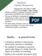 TQM Definition