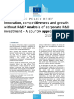Innovation Competitiveness and Growth Without R&D