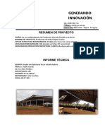 Informe Tecnico Estructura de Galpones para Leche