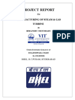 manufacturing of steam and gas turbine fnal report - copy
