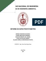 informe espectrofotometria