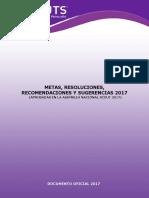 Metas, Resoluciones, Recomendaciones y Sugerencias 2017 (1)
