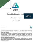Astec LifeSciences - Corporate Profile_Sep2014
