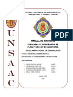 FORMATO 16 Memorandum Planificacion