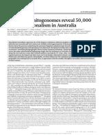 Aboriginal Mitogenomes Reveal 50,000 Years of Regionalism in Australia