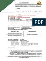 Informe de Liquidación Fisico