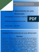 Movimiento en Una Dimension