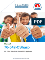 Pass4sure 70-542-CSharp MS Office SharePoint Server 2007-Application exam braindumps with real questions and practice software.