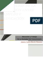 Evolución de La Relación Entre Empleo y Educación