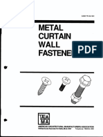 Metal Curtain Wall Fasteners (AAMA TIR-A9-1991)