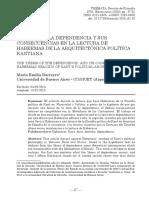 BARREYRO - La tesis de la dependencia y sus consencuencias en la lectura de Habermas. versión definitiva
