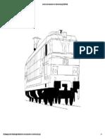 Dessin d Une Locomotive d Un Train Electrique