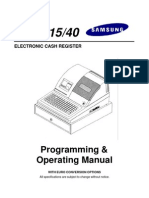 Sam4s ER-5115 40 Program & Operation Manual