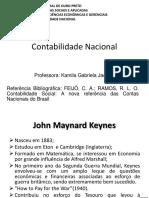 slide, explicação da matéria Contabilidade Nacional
