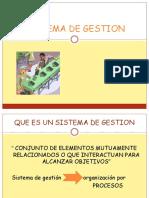 Sistema Integral de Gestion