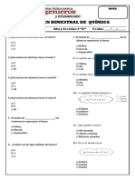 Examen Bimestral de Ciencias i