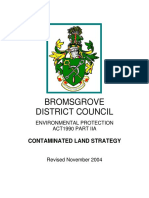 Bromsgrove District Council Contaminated Land Strategy