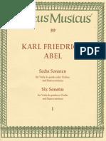 6 Easy Sonatas, WK 141-146 (Abel, Carl Friedrich)