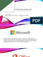 Manejo de las tecnologias de software