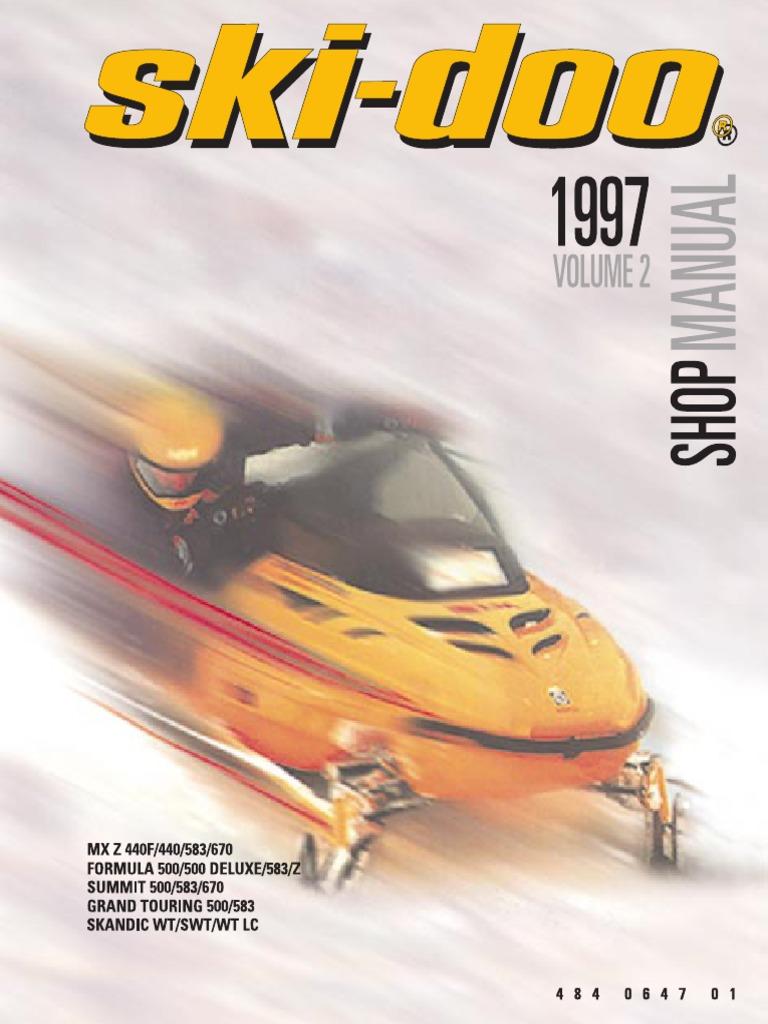 1997 skidoo shop manual carburetor belt mechanical rh scribd com Kawasaki MX Ski-Doo Formula MX