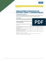 CT Emulsiones de Rotura Lenta y Superestables