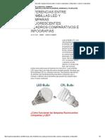 Diferencias Entre Bombillas LED y Lamparas Fluorescentes_ Cuadros Comparativos e Infografias _ Cuadros Comparativos