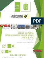 Codigo de Medida Resolucion Creg No.038 de 2014 Anexos 7-10