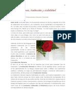 Lectura y Visibilidad Del Traductor