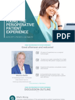 Fixing the Perioperative Patient Experience