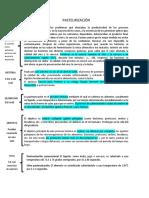 Pasteurización (Panel)