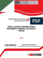 Lineamientos I Simulacro Nacional Escolar 2017
