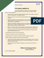 GC-C-006 Politica de Medio Ambiental