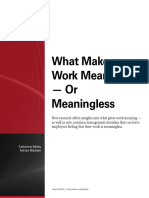 What Makes Work Meaningful or Meaningless