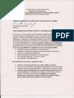 Procedimientos de Prevención y Seguridad Escolar 2010