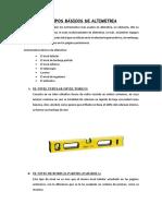 Equipos Básicos de Altimetria Edwin