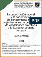 Capacitacion Laboral y La Construccion de Conocimiento en Las Organizaciones_ernesto Gore