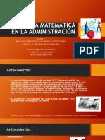 Escuela Matemática de La Administración