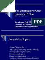 Adult sensory profile