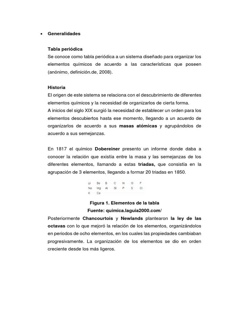 Generalidades de la tabla periodica generalidades de la tabla periodica urtaz Image collections