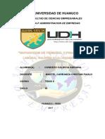 SUPERPOSICION DE PERSONAL Y  PRODUCTIVIDAD LABORAL DE LA EMPRESA VALDIVIA