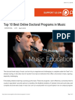 Top 10 Best Online Doctoral Programs in Music