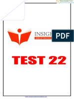 Insights Test 22 Questions Only