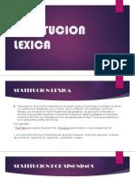 SUSTITUCION          LEXICA