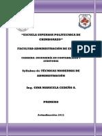 Folleto de Administracion PDF
