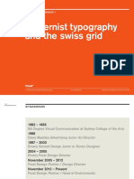 Modernist Typography and the Swiss Grid