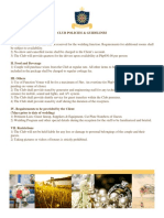 Club Policies and Guidelines