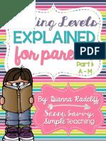 parent reading level letters a-m