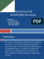 EXPOSICION Protocolo de Monitoreo de Agua