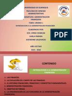 Diapositivas Unidad 1 Finanzas Econ Chabusa