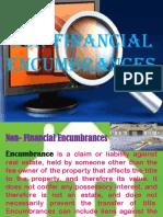 Non Financial Encumbrances